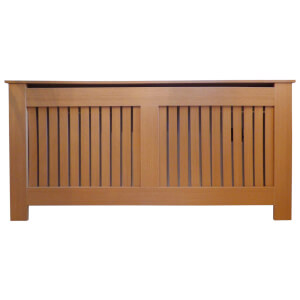 Vertical Oak Radiator Cover - Extra Large