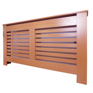 Horizontal Oak Radiator Cover - Large