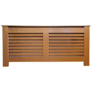 Horizontal Oak Radiator Cover - Extra Large