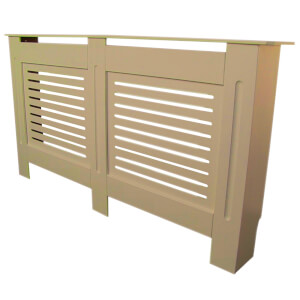 Horizontal Unpainted Radiator Cover - Extra Large