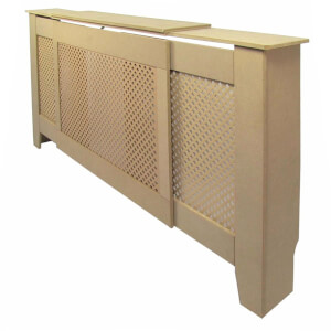 Diamond Unpainted Radiator Cover - Adjustable