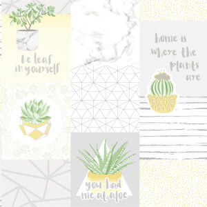 Holden Decor You Had Me At Aloe Smooth Metallic Yellow and Grey Wallpaper