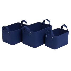 Felt Basket 3 Pack - Blue