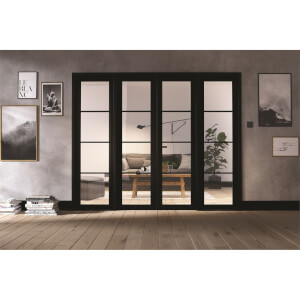 Soho - Room Divider W8 - Black - 2031 x 2478 x 35mm