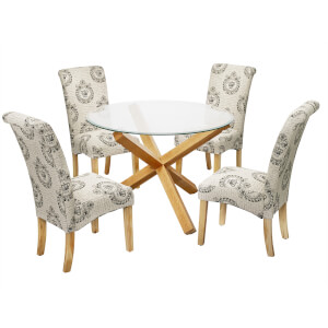 Oporto 4 Seater Dining Set - Kensington Dining Chairs