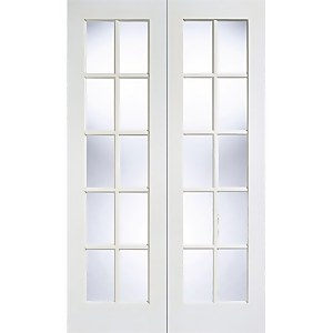 Gtpsa - Glazed Pair - White Primed Internal Door - 1981 x 1371 x 40mm