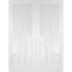Coventry - Glazed White Primed Internal Door - 1981 x 1168 x 40mm
