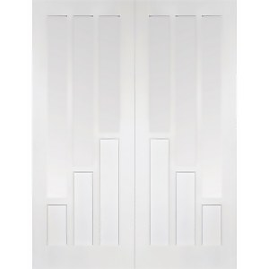 Coventry - Glazed White Primed Internal Door - 1981 x 1524 x 40mm