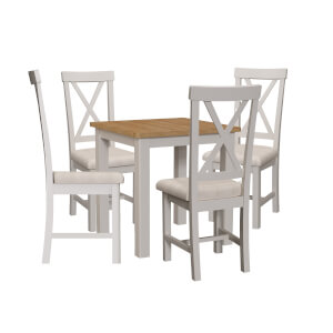 Padstow 4 Seater Dining Set - Grey