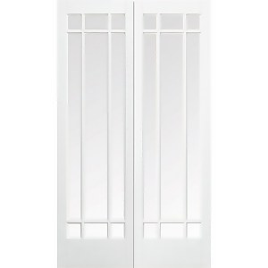 Manhattan - Glazed White - Primed Internal Door - 1981 x 1372 x 40mm