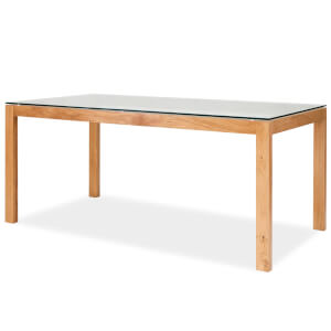 Tribeca Dining Table - White & Oak