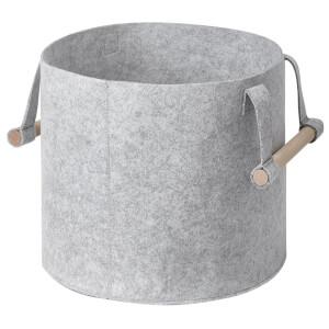 Felt Storage Basket with Wooden Handles