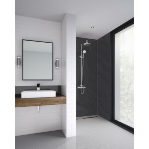 Wetwall Sicilian Slate Nat - 590mm Tongue & Groove - Laminate