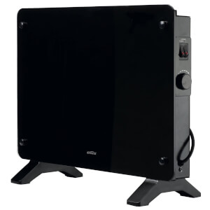 2200W Black Glass Panel Heater