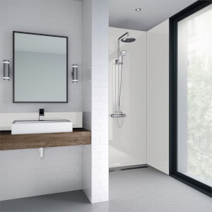 Wetwall White Gloss - 900mm - Square Edge - Laminate