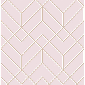 Superfresco Easy Losanges Filaires Pink & Rose Gold Paste the Wall Wallpaper