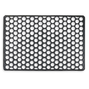 Rubber grid doormat -Black