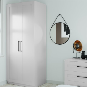 Modular Bedroom Shaker Double Wardrobe - Grey