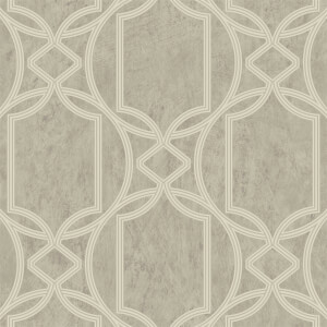 Boutique Deco Geo Taupe Wallpaper