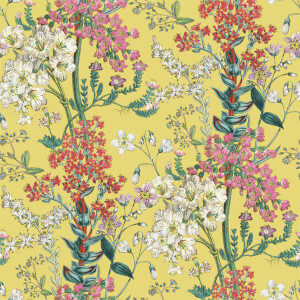 Holden Decor Ayana Floral Smooth  Citrus Wallpaper