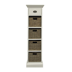 Holywell 1 Drawer 4 Wicker Basket Cabinet