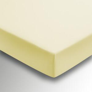 Helena Springfield Plain Dye 36cm Deep Fitted Sheet - Double - Citron