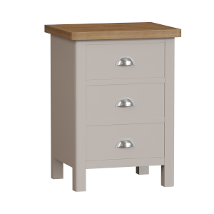Padstow 3 Drawer Bedside Table - Truffle