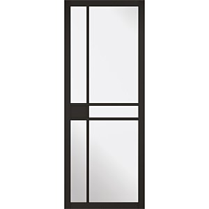 Greenwich - Black - Glazed Internal Door - 1981 x 762 x 35mm