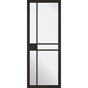 Greenwich - Black - Glazed Internal Door - 1981 x 838 x 35mm