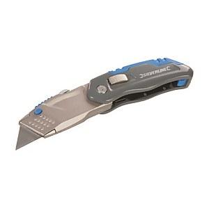 Silverline Folding Retractable Knife - 165mm