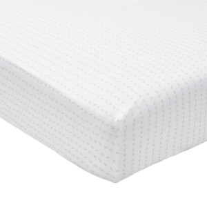 Murmur Leaf Fitted Sheet - Double - Linen
