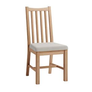 Kea Upholstered Dining Chair - Set of 2 - Oak