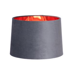 Velvet Taper Lamp Shade - Grey - 30cm
