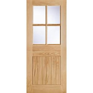 Cottage - Stable - 4 Lite - Glazed Exterior Door - Oak - 2032 x 813 x 44