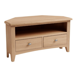 Kea Corner TV Unit - Oak