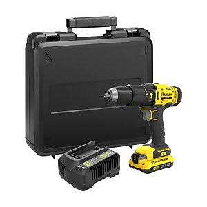 STANLEY FATMAX V20 18V Cordless Combi Drill with Kit Box (SFMCD711D11-GB)