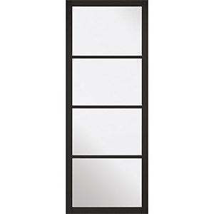 Soho - 4 Lite Glazed - Primed Black Internal Door - 1981 x 686 x 35mm