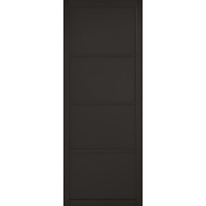 Soho - 4 Panel Primed Black Internal Door - 1981 x 838 x 35mm