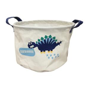 Large Fabric Toy Storage Basket - Dinosaurs