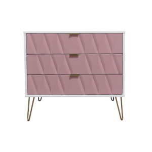 Ice 3 Drawer Chest - Pink