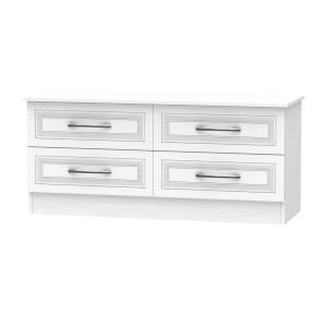 Milton 4 Drawer Bed Box - White