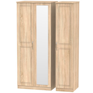 Milton Triple Mirror Wardrobe - Oak