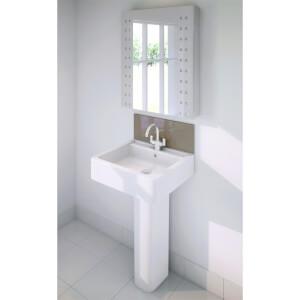 Wetwall Upstand - 600 x 200mm - Mocha - Glass