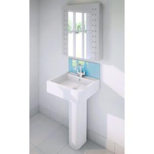 Wetwall Upstand - 900 x 200mm - Essence - Glass