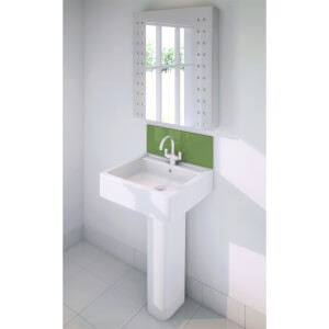 Wetwall Upstand - 900 x 200mm - Olive Grove - Glass