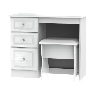 Florence Dressing Table and Stool Set - White