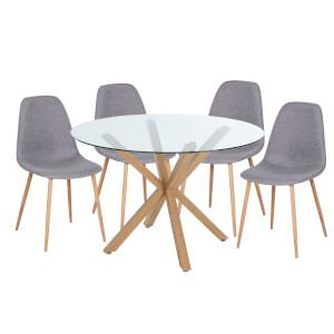 Ludlow 4 Seater Dining Set - Grey