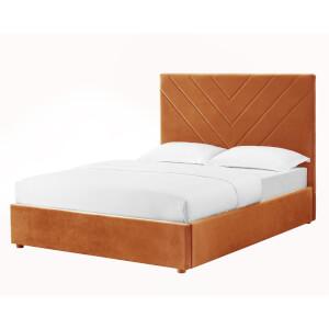 Islington Double Bed - Burnt Orange