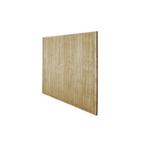 6ft x 6ft (1.83m x 1.83m) Pressure Treated Closeboard Fence Panel - Pack of 20