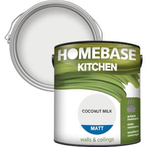 Homebase Kitchen Matt Paint - Coconut Milk 2.5L
